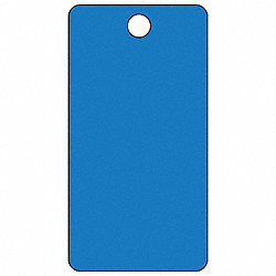 Blank Tag, 5-3/4 x 3 In, Bl, PK25