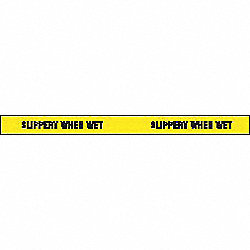 Antislip Tape, Black on Ylw, 3 In x 54 ft.