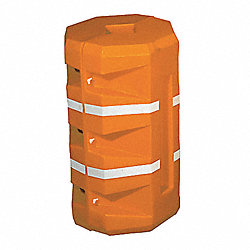Column Protector, Round, Orange, 46 In