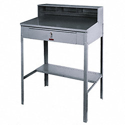 Shop Desk, 51x36x25 In., Gray