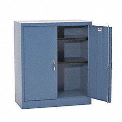 Storage Cabinet, 42x36x24In, 2 Shelf, Gray