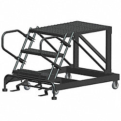 Roll Work Platform, Steel, Single, 30 In.H