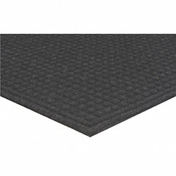 Entrance Mat, Rubber, 5 x 3 ft., Black