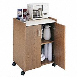 Mobile Refreshment Ctr, 200 lb., Wood Lam