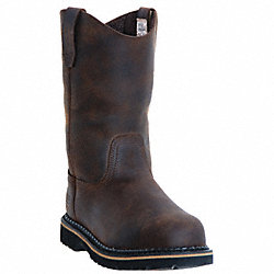 Wellington Boots, Pln, Mens, 9-1/2, Brn, 1PR