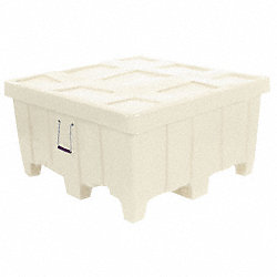 Container, 18Cu-Ft., 500lbs., White