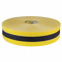 Barrier Tape, Woven, 2 In, x 200 ft, Yellow