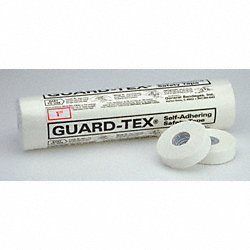Safety Tape, White, 1 In, PK 12