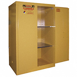 Flammable Safety Cabinet, 90 Gal., Yellow