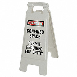 Floor Stand Sign, Danger Confined Space