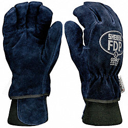 Firefighters Gloves, XL, Cowhide Lthr, PR