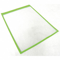 Shop Env, 12 x 9 In, Fluor Grn, Plstc, PK50