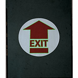 Firefly Floor Sign, 17x17 In, Exit Arrow