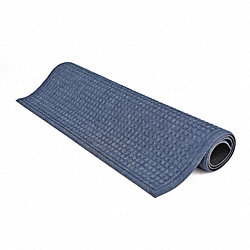 Entrance Mat, Rubber, 15 x 3 ft., Blue