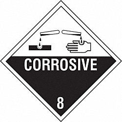 Vhcle Placard, Corrosive w Pictogram, PK10