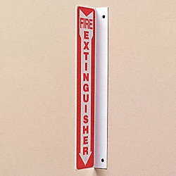 Fire Extinguisher Sign, 18 x 4-1/2In, PS
