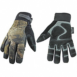 Cold Protection Gloves, XL, Camouflage, PR