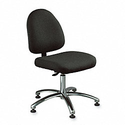 Ergo Office Stool W/Tilt, Black