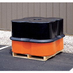 Four Drum Spill Container, Black