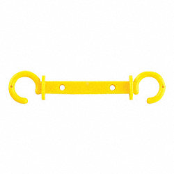 C-Hook, Med Duty, 2.5 in, Yellow, PK10