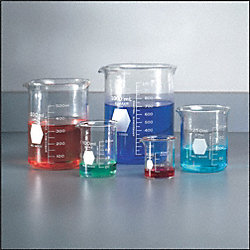 Beaker, Glass, 600 mL, Pk 6