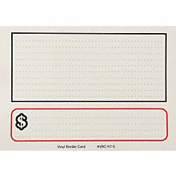 Sign Card, Border, White, PK25