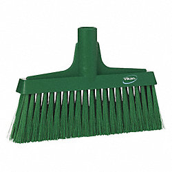 Synthetic Lobby Broom, Green, 9-1/2 In
