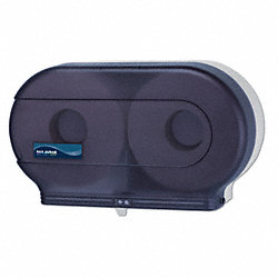 Tissue Dispenser, (2) 9 In Rolls, Black