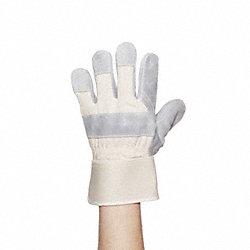 Leather Drivers Gloves, White, S, PR