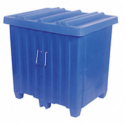 Ribbed Container, 23cu.ft., 600lb., Blue