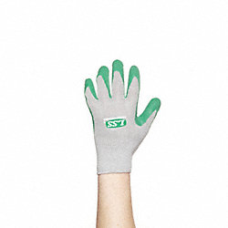 Coated Gloves, L, Gray/Green, PR