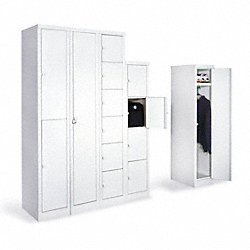 Locker, 72x12.25x18 In, Single Tier, Gray