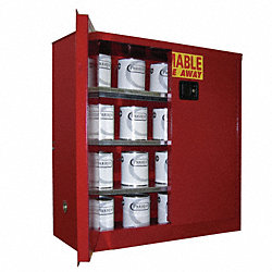 Flammable Cabinet, 40 Gal., Red