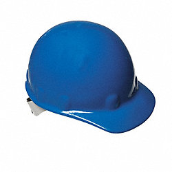Hard Hat, FrtBrim, NonSlotted, 8Rtcht, Blue