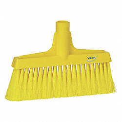 Synthetic Lobby Broom, Yellow, 9-1/2 In