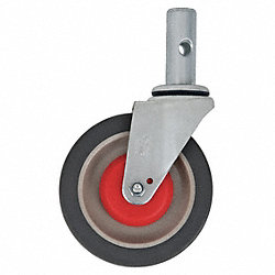 Swivel Stem Caster, 5 In, 500 lb, Polyurthn