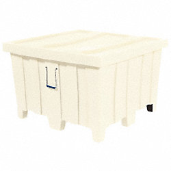 Ribbed Container, 23cu.ft., 800lb., White