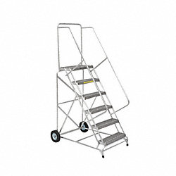 Wheelbarrow Ladder, Aluminum, 80 In.H