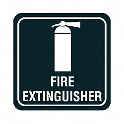 Fire Extinguisher Sign, 5-1/2 x 5-1/2In