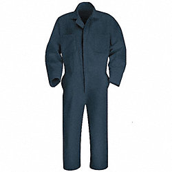 Coverall, Chest 36In., Navy