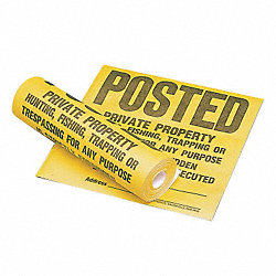 Caution Sign, 12x12In, BK/YEL, Roll of 100