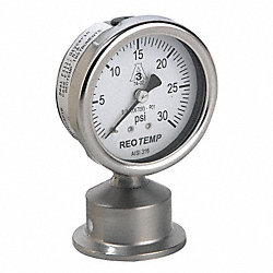 Pressure Gauge, 0 to 100 psi