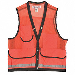 Field Vest, XL, Orange, Zipper