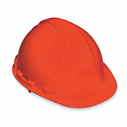Hard Hat, FrtBrim, Slotted, 4PinLk, Orange