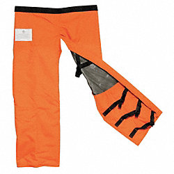 Chain Saw Chaps, Nylon, Orange