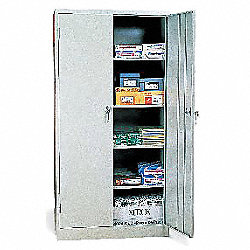 Storage Cabinet, 36 x18 x72 In, Gray, Steel