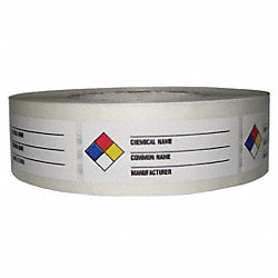 NFR Label, Paper, 3-1/8 In. W, PK 1000