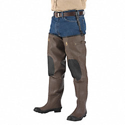 Insulated Hip Waders, Mens, Size 10, PR
