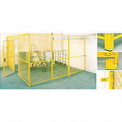 Wall Clamp Kit, For Wire Partition Units