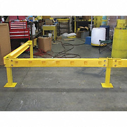Poly Guard Rail, Yellow, 72 In